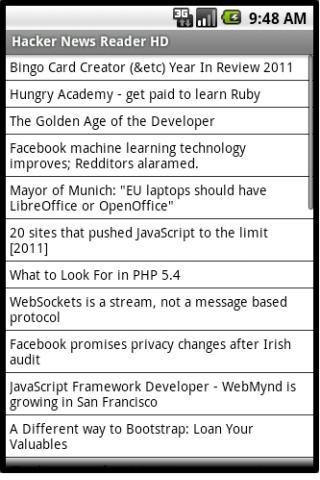 Hacker News Reader HD