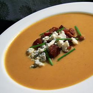 Velvety Pumpkin Soup With Blue Cheese and Bacon