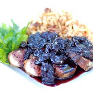 Gluten Free Duck Breast with Cherry Balsamic Sauce & Dried Cherry Rice Pilaf