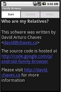 Family Browser - screenshot
