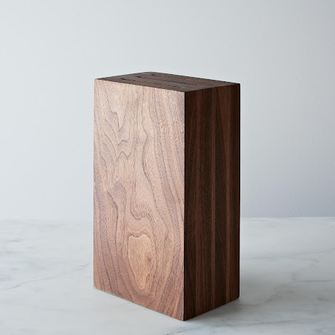 Walnut Knife Block