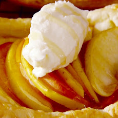 Honey Apple and Nectarine Tart with Whipped Mascarpone