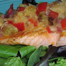 Hawaiian Salmon With Pineapple Salsa