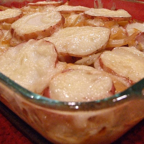 Beer- Baked Scalloped Potatoes
