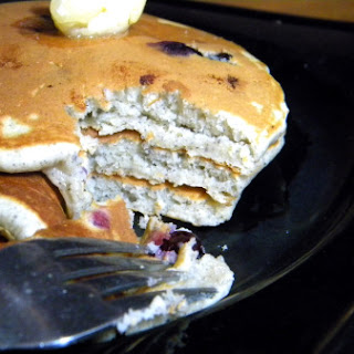 Blueberry Blue Cornmeal Pancakes