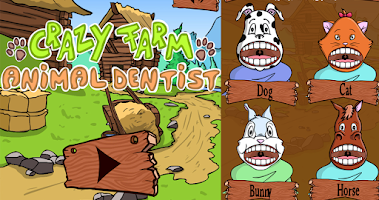 Screenshot of Crazy farm animal dentist girl
