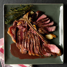 Tuscan Porterhouse Steak with Red Wine-Peppercorn Jus