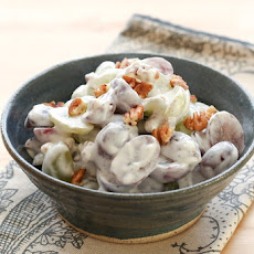 Grape Salad with Vanilla Bean Sweet Cream