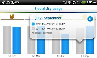 Screenshot of British Gas