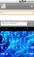 Screenshot of Blue Design Keyboard skin
