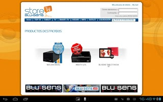 Screenshot of Blu:Store
