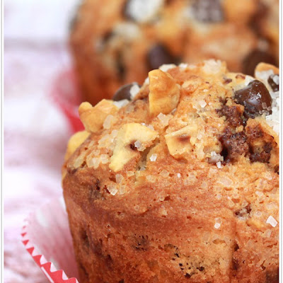 Hazelnut Chocolate Chip Muffins