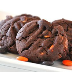 Perfect Double Chocolate Peanut Candy Cookies