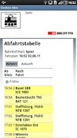 Screenshot of Swiss Public Transport
