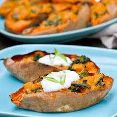 Loaded Sweet Potato Skins with Kale