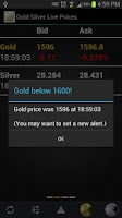 Screenshot of Gold Silver Live Prices Free