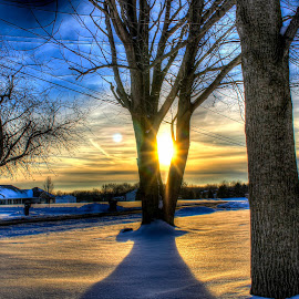 by Aires Spaethe - Landscapes Sunsets & Sunrises ( winter, hdr, sunset, snow, snowscape, high dynamic range,  )