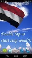 Screenshot of 3D Yemen Flag Live Wallpaper