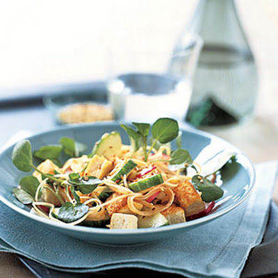 Cucumber-and-Radish Stir-Fry with Rice Noodles