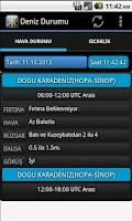 Screenshot of Deniz Hava Durumu
