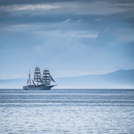 Homeward Bound by Nicole Williams - Novices Only Landscapes ( skye, tall ship, loch, boat )