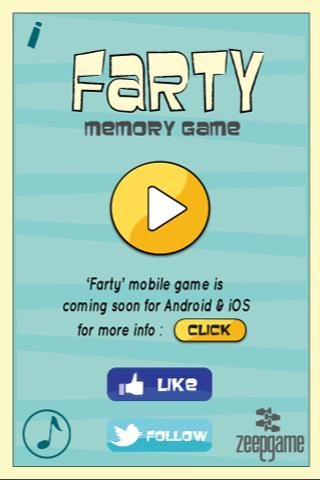 Farty's Memory Game