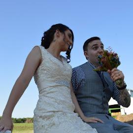 by Karen Morse - Wedding Bride & Groom