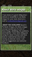 Screenshot of Moto mApps Oregon FREE