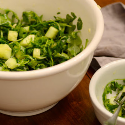 Arugula Cucumber Salad with Lemon Dressing