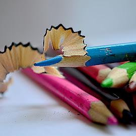 by Kosasih Harris - Artistic Objects Still Life ( blue, pencil, object )