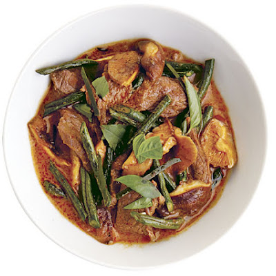 Panang Curry with Beef and Shiitakes