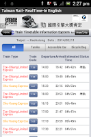 Screenshot of Taiwan Railways - English
