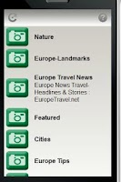 Screenshot of Europe Travel Network