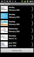 Screenshot of Mobile World Congress Events