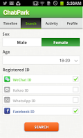 Screenshot of ChatPark for WeChat, Facebook