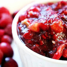 Cranberry Sauce with Pears and Cardamom