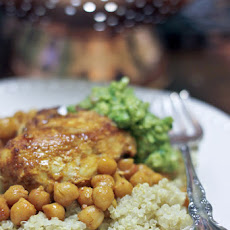 Moroccan Chicken with Chickpeas and Spicy Avocado