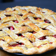 Lattice-Topped Strawberry Rhubarb Pie