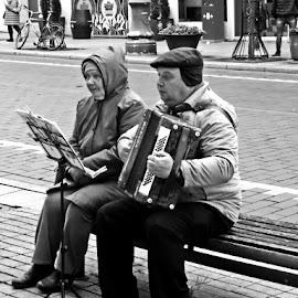 In the street by Evaldas Kazragis - People Musicians & Entertainers
