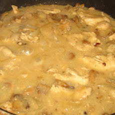 Chicken With White Wine and Mushroom Reduction