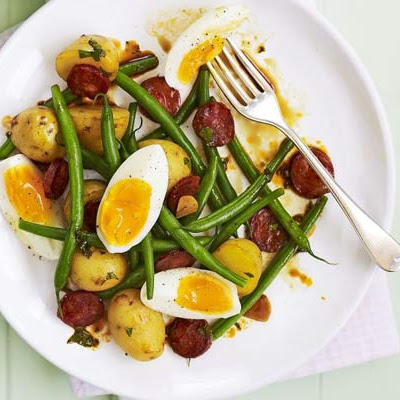 Chorizo & Soft-boiled Egg Salad