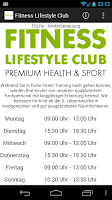 Screenshot of Fitness Lifestyle Club