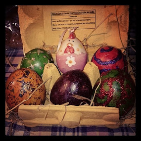 Easter eggs-checked:-) by Mirna Abaffy - Instagram & Mobile Instagram