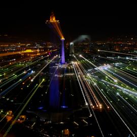 by Lusie Herwahyu - City,  Street & Park  Skylines ( building, city lights, monument, jakarta, historical )