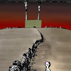 Revolution by Paul Griffin - Illustration Cartoons & Characters ( new, revolution, defiance, drawing, ink )