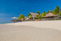 The Castaway Island beach