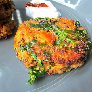 Best Quinoa Cakes w/ Sweet Potatoes & Kale