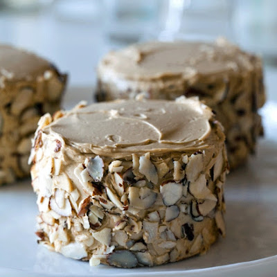 Little Sponge Cakes with Coffee Buttercream and Toasted Almonds
