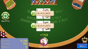 Screenshot of Spanish BlackJack