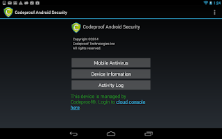 Screenshot of Codeproof Android Security MDM